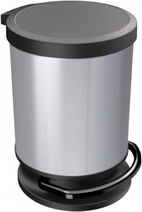 Design Afvalemmer Rotho.Rotho Paso Pedaalemmer 20 Liter Silver Metallic