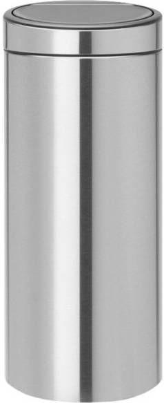 Brabantia Touch Bin 30 Liter.Brabantia Touch Bin Afvalverzamelaar 30 Liter Matt Steel Fingerprint