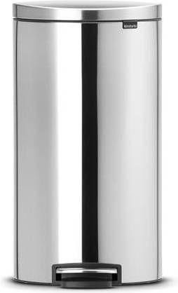Brabantia Afvalbak 30 Liter.Brabantia Flatback Prullenbak 30 L Matt Steel Fingerprint Proof