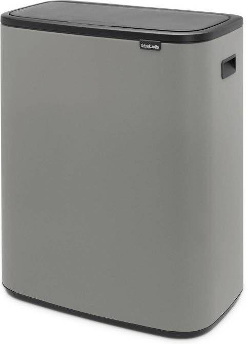 Brabantia Prullenbak 30 Liter.Brabantia Bo Touch Bin 2 X 30 Liter Mineral Concrete Grey