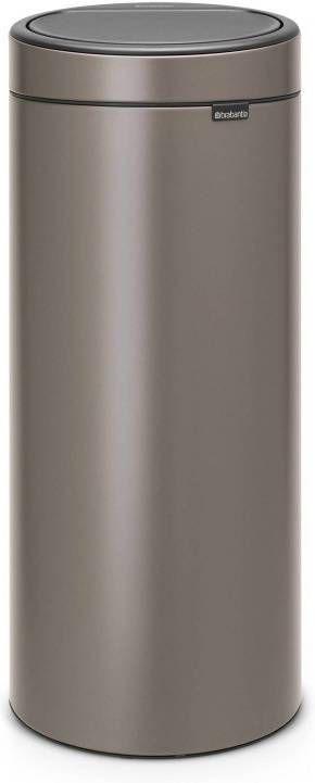 Brabantia Afvalbak 30 Liter.Brabantia Touch Bin Prullenbak 30 Liter Platinum Prullenbakwebshop Nl