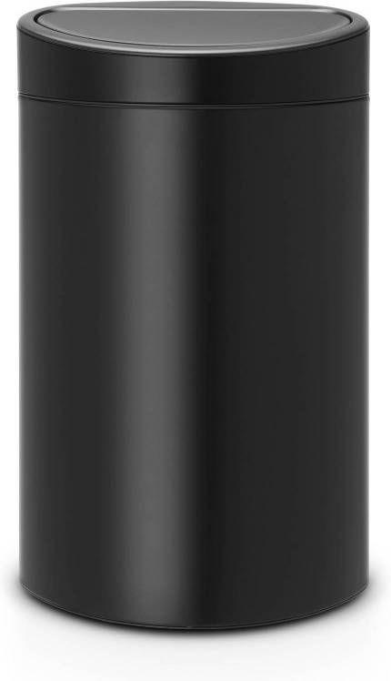 Brabantia Prullenbak 40 Liter.Brabantia Touch Bin Prullenbak 40 L Mat Zwart Prullenbakwebshop Nl